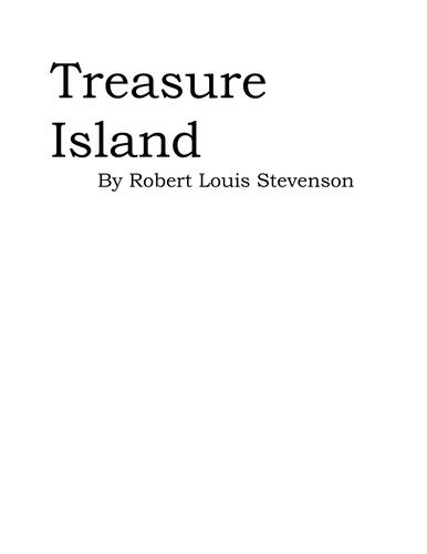 Treasure Island Reading Journal