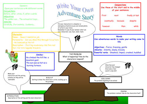 how to write an adventure story ks1 maths