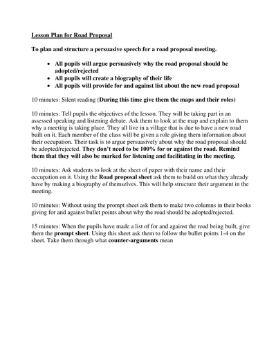 Speaking and Listening Assessment