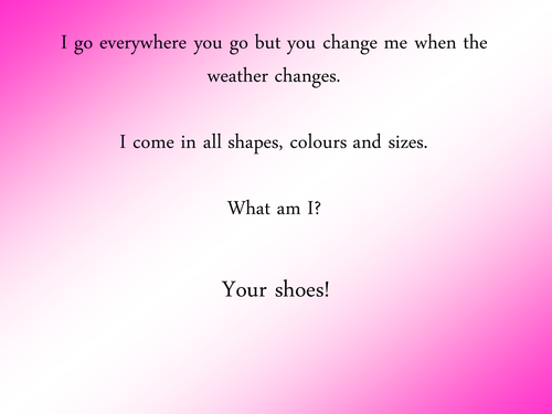 Shoes! A lovely PowerPoint