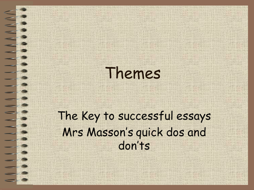 How to write a thematic essay dos and don'ts