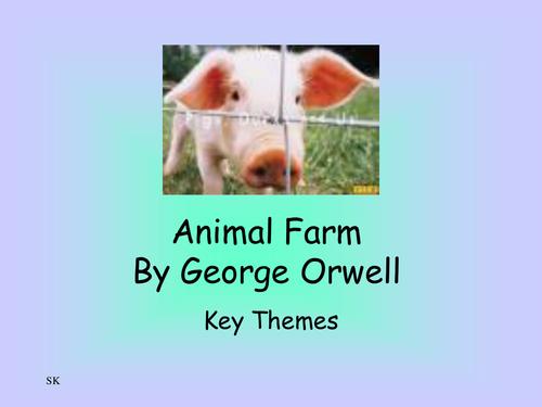Animal Farm themes PowerPoint