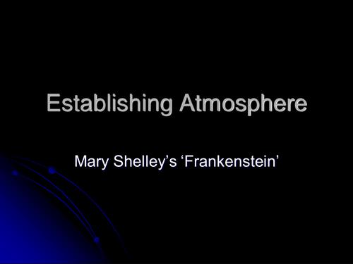 Establishing atmosphere