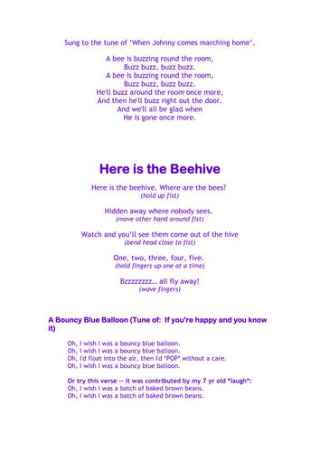 Letter 'b' songs