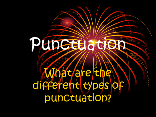 Capitalization and punctuation rules