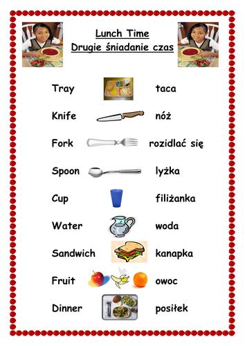 Various English/Polish sheets