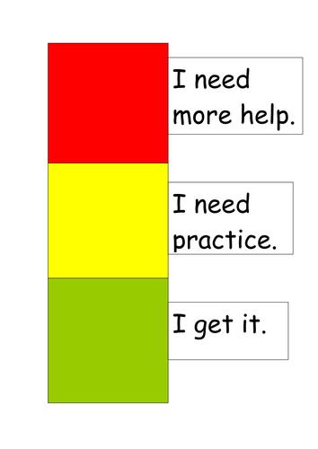 Children's Self Evaluation Traffic Lights