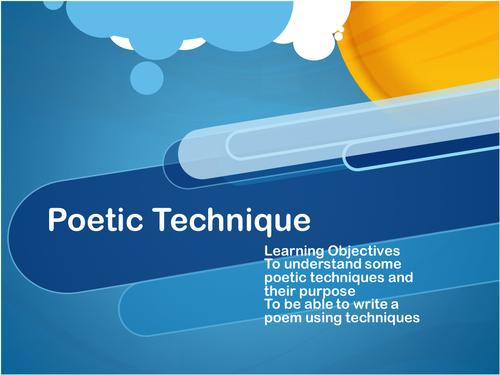 Poetic technique