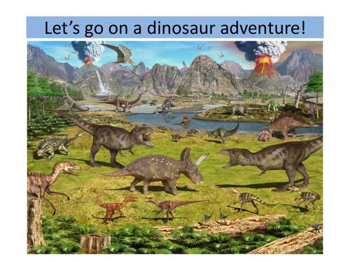 Let's go on a Dinosaur Adventure!