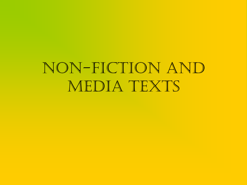 Non-fiction and media review resource