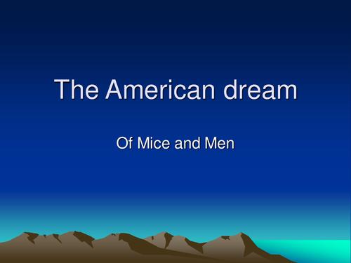 mice of men american dream