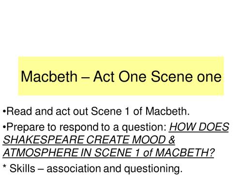 Macbeth Act One Scene One