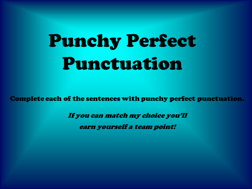 Punchy Perfect Punctuation