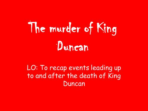 Macbeth newspaper report Act 2; scene 2