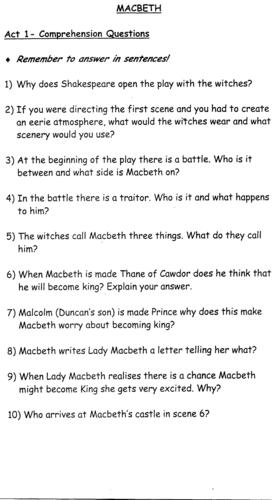 macbeth essay questions and answers pdf