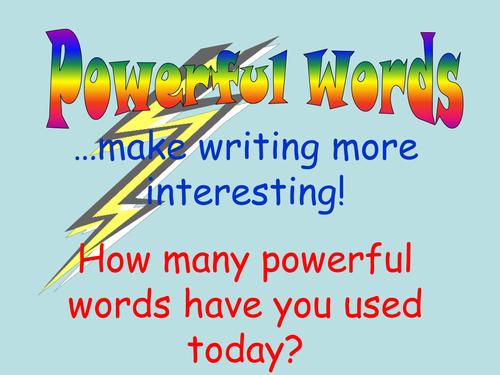Powerful Words Lists