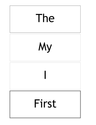 Sight Word and Phrase Flash Cards