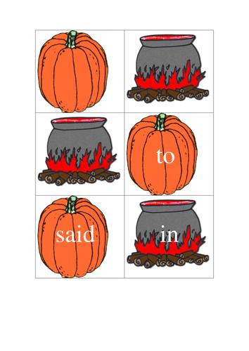 Halloween Pre-Kindergarten HFWs