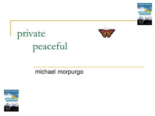 Private Peaceful questions