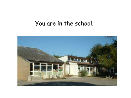 You are in.....