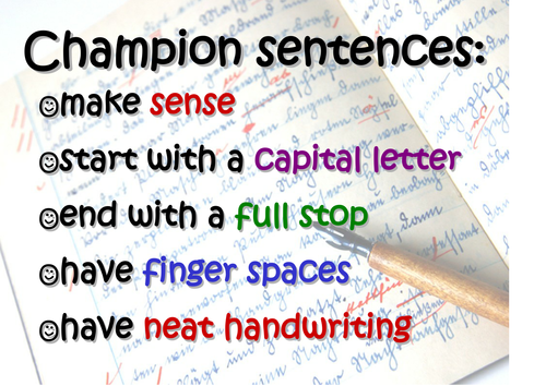 Champion Sentence Poster