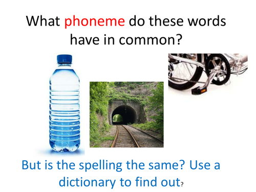 'le' phonemes; different spellings