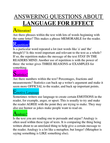 Language for Effect