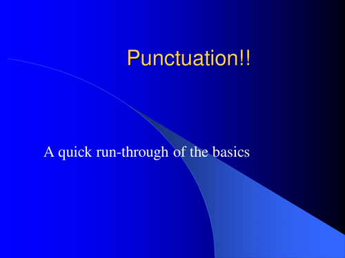 Punctuation PowerPoint