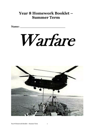 A Game of Soldiers Homework Booklet