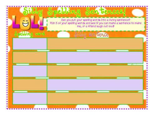 Make Spellings FUN!! Loads of activities! by sairer - Teaching ...