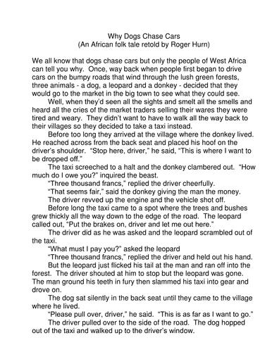 A Fun Folk Tale From Africa