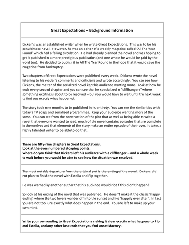Great Expectations - Background information