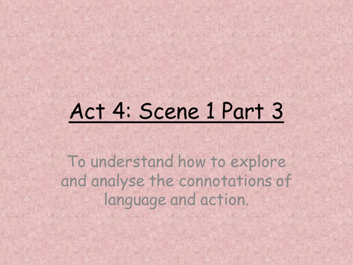 Lesson  for Much Ado About Nothing