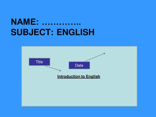 Detective and Crime Lessons Language Skills Intro