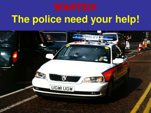 Wanted - How to put together a wanted poster.