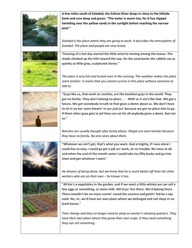 Of Mice and Men Key Quotes from the Whole Novella