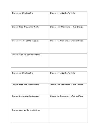 Plot Summary worksheet The Woman in Black