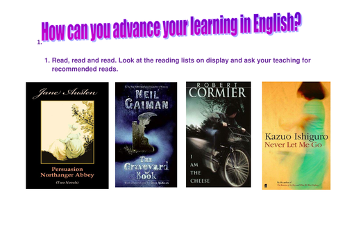 Advancing your learning in English