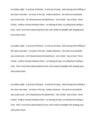 Skellig Lesson 15