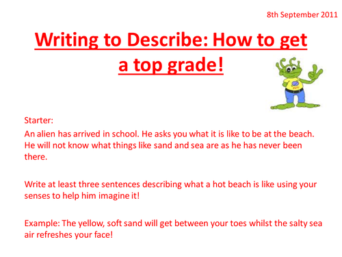Using Interesting Sentences - Descriptive Writing