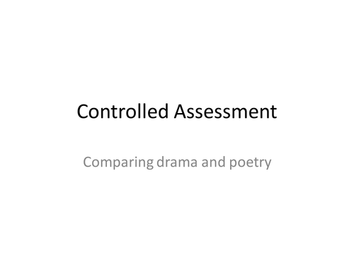 Comparison of Drama and Poetry