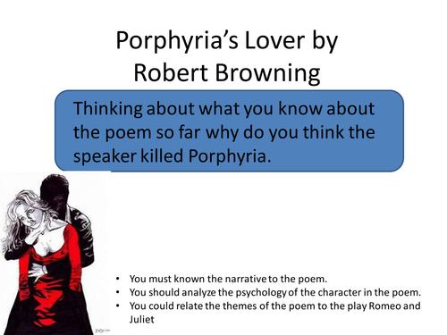 Porphyria's Lover (Close Reading Activity)