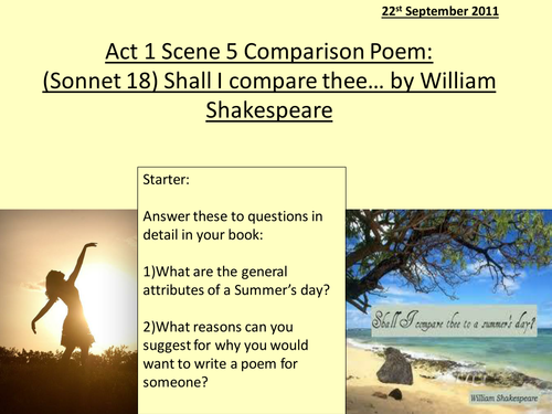 Sonnet 18 Shall I Compare Thee Shakespeare