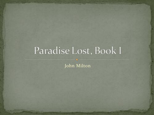 Paradise Lost intro