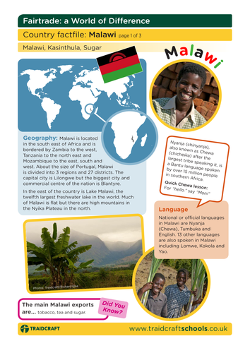 Fairtrade Fortnight Creative Writing Lesson