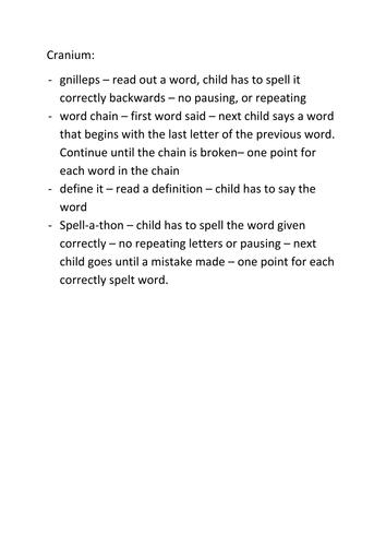Cranium Word Spelling and Vocabulary Games