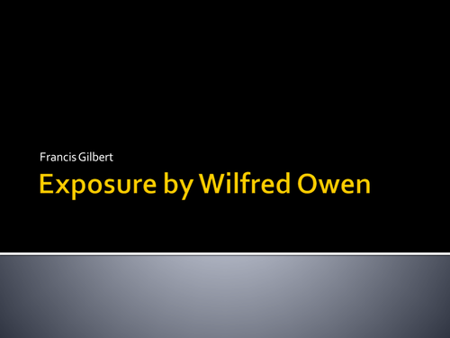 A presentation on Exposure