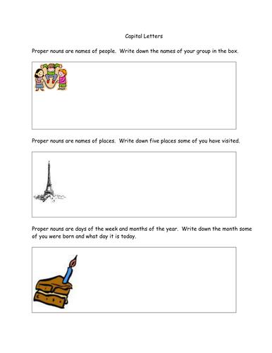 Handout: Proper Nouns