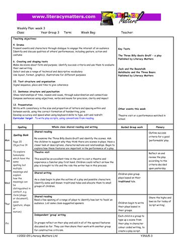 Instructions Planning Grade 2/3