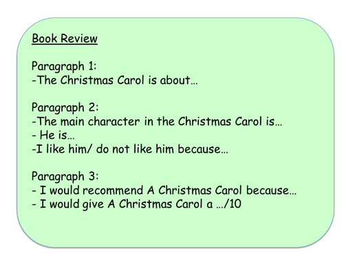 Book review template - Christmas Carol